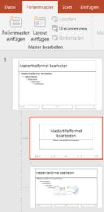 PowerPoint Master verwenden